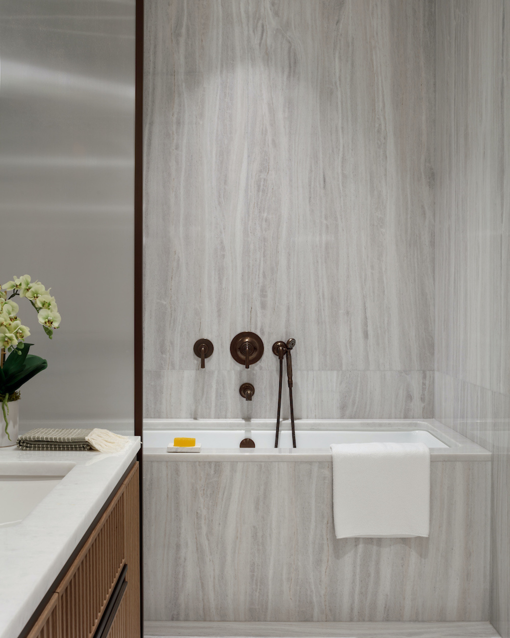 12 Lantern House March and White Design Model Shower Photo Courtesy of Related Companies by Colin Miller
