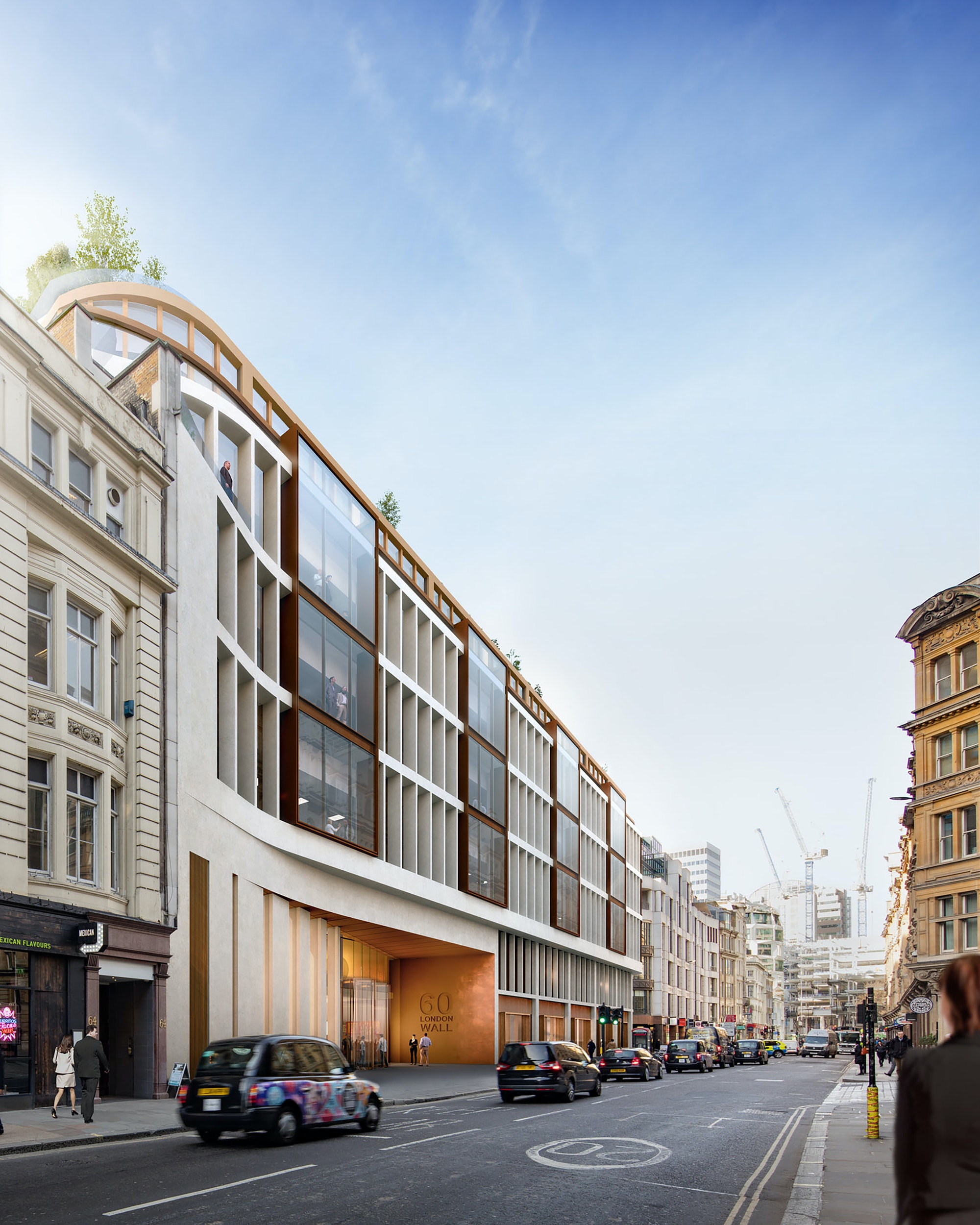 Sixty London Wall Exterior Architecture
